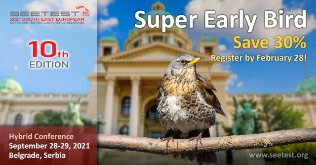 The Super Early Bird campaign for SEETEST 2021 is starting!